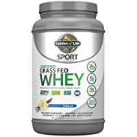 Garden of Life Sport Certified Grass Fed Clean Whey Protein Isolate, Vanilla, 22.57...
