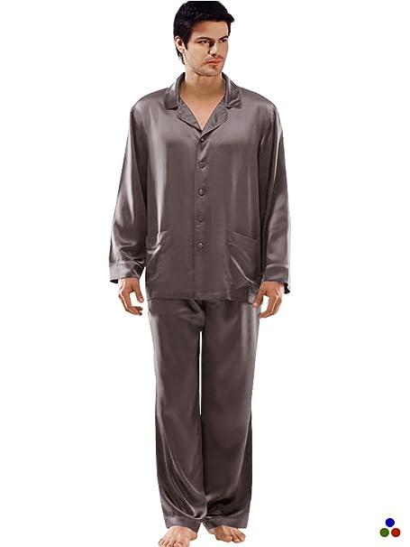 ElleSilk Set De Pijama De Seda para Hombres, Ropa De Dormir para Hombres 22 Mamá