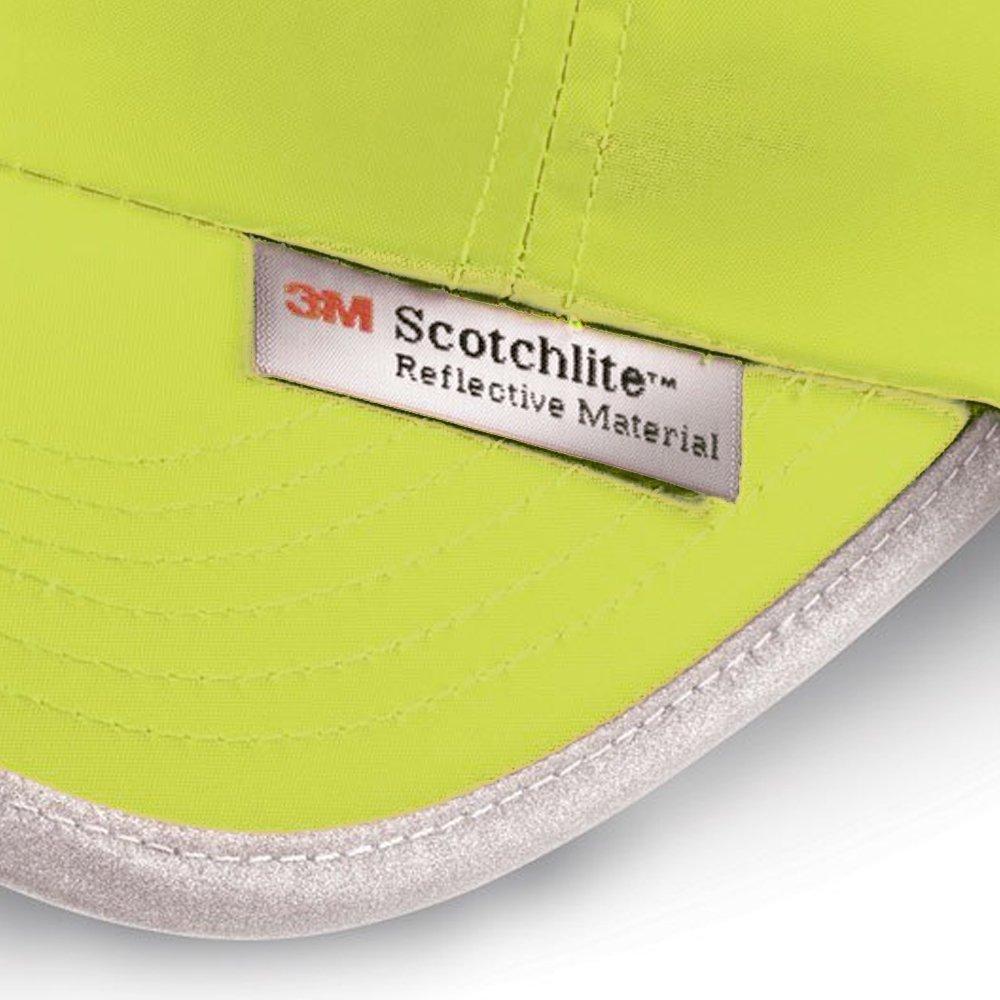 Hi-Vis Cap Talla: Unica Naranja Fluorescente Gorra Fluorescente Reflectantes 3M Scotchlite