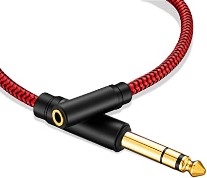 3.5mm Male To 3.5mm Female Adapter Stereo Jack Audio Cable Connector 20ft New