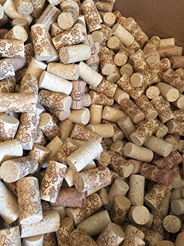 Premium Recycled Corks, Natural Wine Corks From Around the Us - 1000 Count by Widgetco
