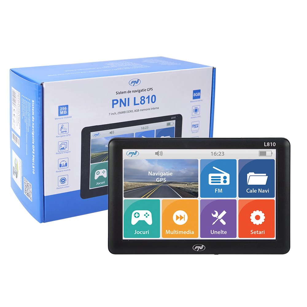 Systè me de Navigation GPS PNI L810 7 inch 800 MHz, 256M DDR, 8GB, FM Transmitter, Pas de Carte pré installé e Pas de Carte préinstallée ONLINESHOP SRL 4982