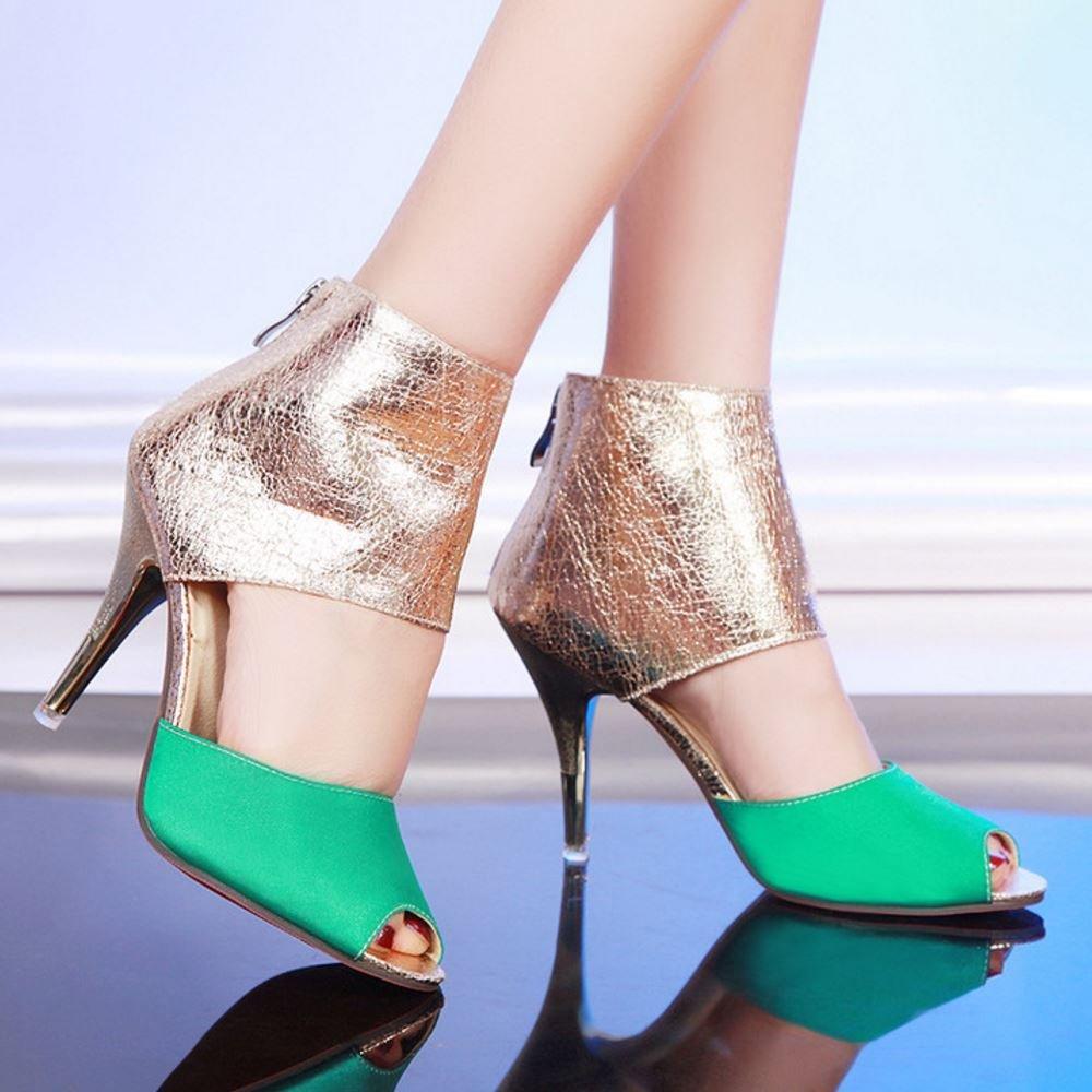 RAZAMAZA Women Fashion High Heels High Top Sandals