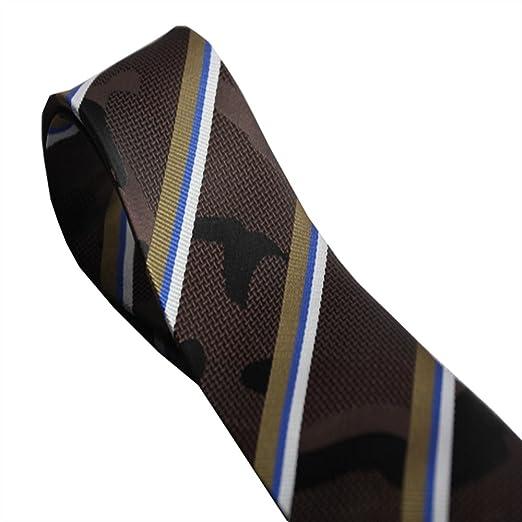 Y-WEIFENG Rayas de Corbata de los Hombres combinadas con Elementos ...