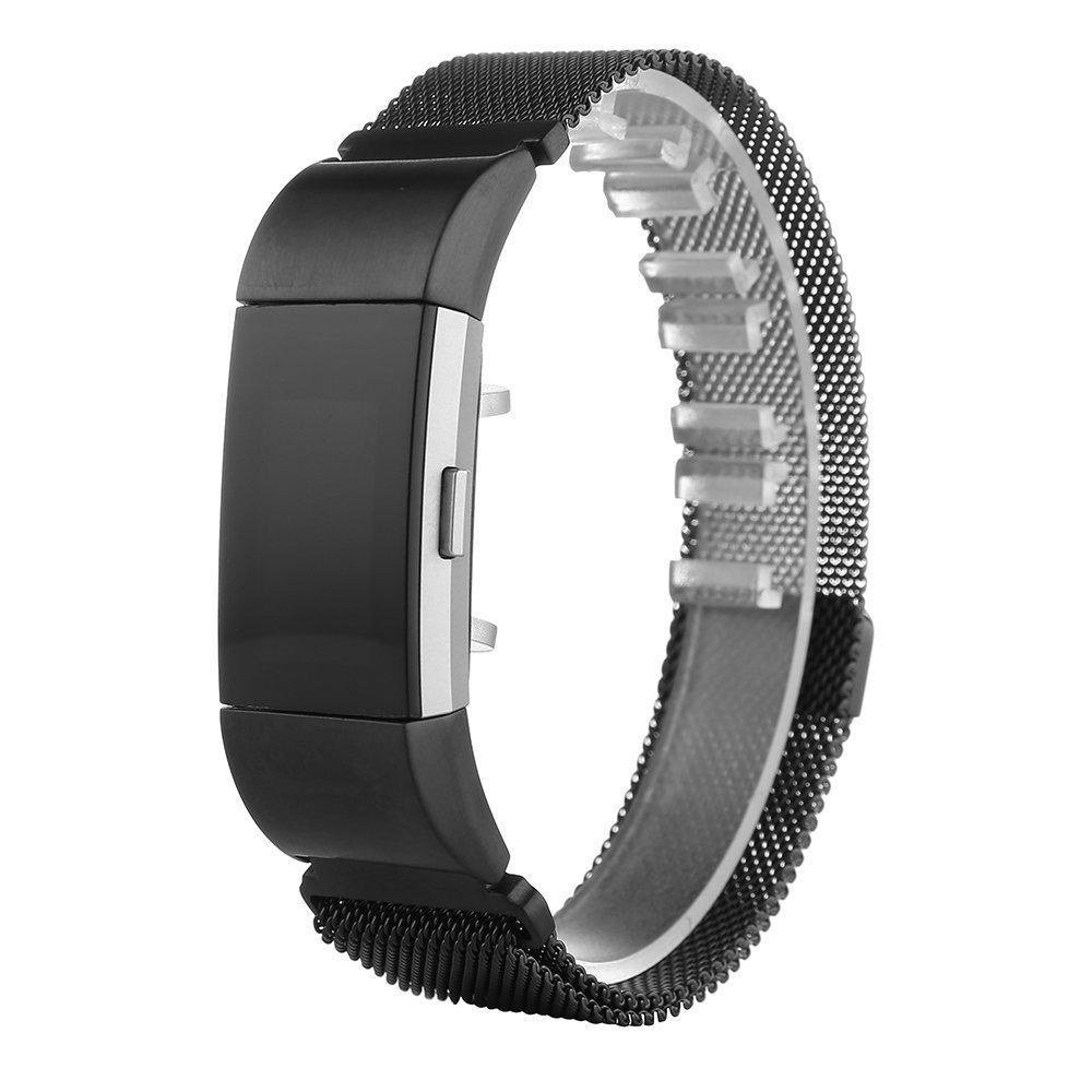 PEMOTech Fitbit Charge 2 - Pulsera De Acero Inoxidable + ...