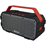 Zoook Rocker Torpedo (50W) Bluetooth Speaker with AUX-In/Hands-free/Heavy Bass/Waterproof and shock-proof design speaker - Black and Red