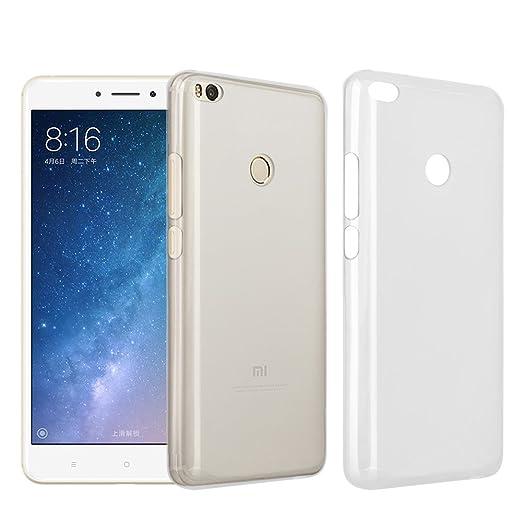Funda Xiaomi Mi Max 2, Riffue Flexible TPU Ultra Suave Silicona Delgada Transparente Carcasa Protectora de Gel [Matte] para Xiaomi Mi Max 2 - Blanco