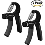 Lift Heavy Fitness (Pair) Hand Strengthener Grip Builder Anti Slip Adjustable Exerciser For Building Hands Forearms strength and rehabilitation 22-88Lbs