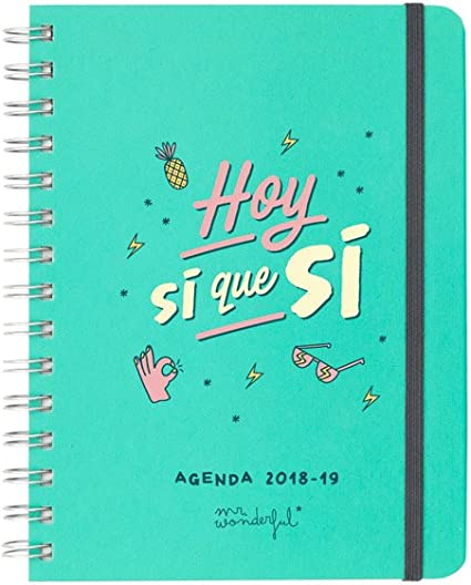 Mr. Wonderful - Agenda rotu 2018-2019 Semana vista - Hoy sí que sí ...