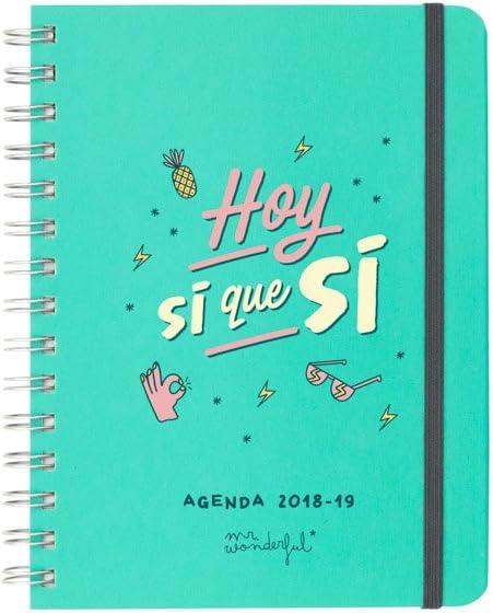 Mr. Wonderful - Agenda rotu 2018-2019 Semana vista - Hoy sí que sí, - [Español]: Amazon.es: Oficina y papelería