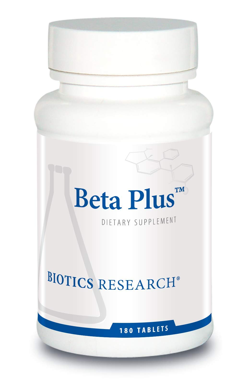 BIOTICS Beta-Plus™ Nutritional Support for Bile Production, Supports Overall Liver Function. Aids in Fat Digestion. Supplies Betaine (Organic Beet Concentrate) 180 Count