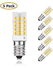 KINGSO 5pack E14 Ampoule LED 4W Équivalent Lampe Halogène/Incandescence 40W 450lm 3000K Blanc Chaud AC220-240V Non-Dimmable 360° Angle Faisceau Ampoules Maïs pour Chambre Salon Cuisine Jardin Couloir