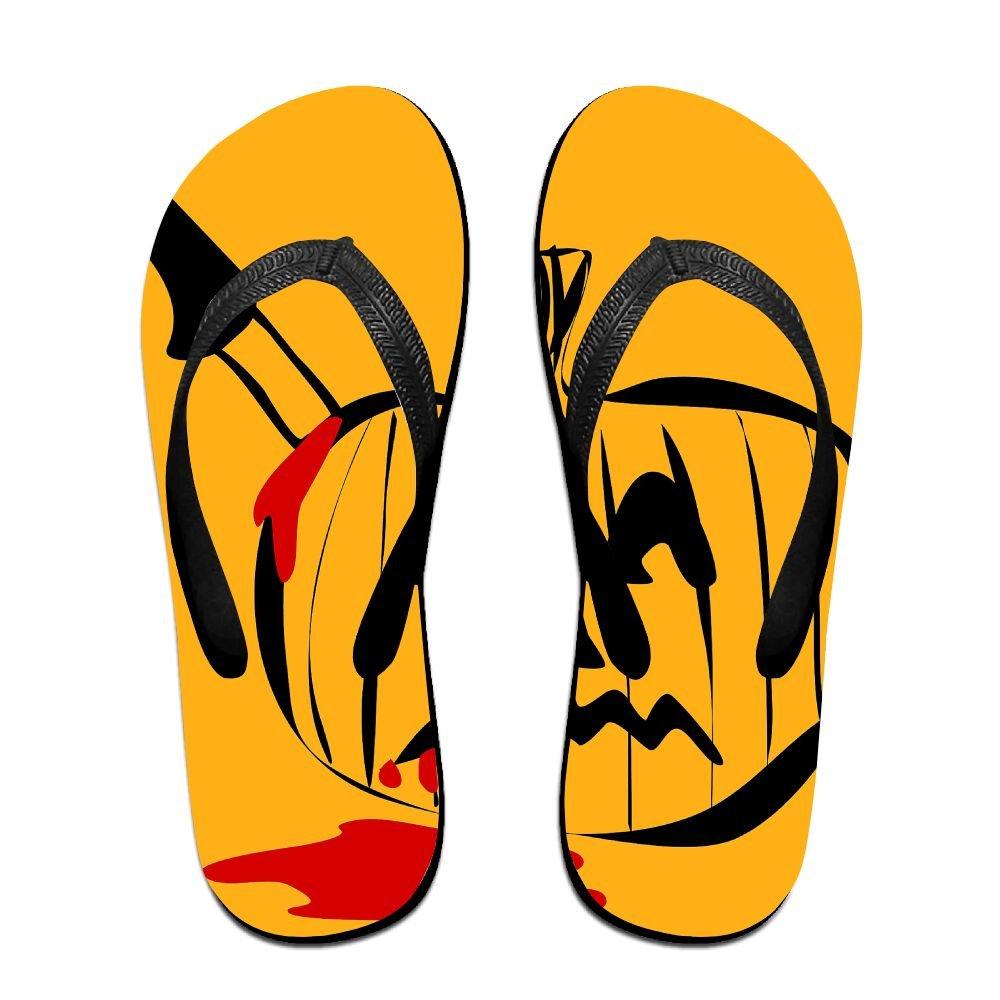 Unisex Summer Beach Slippers Halloween Tease Pumpkin Flip-Flop Flat Home Thong Sandal Shoes