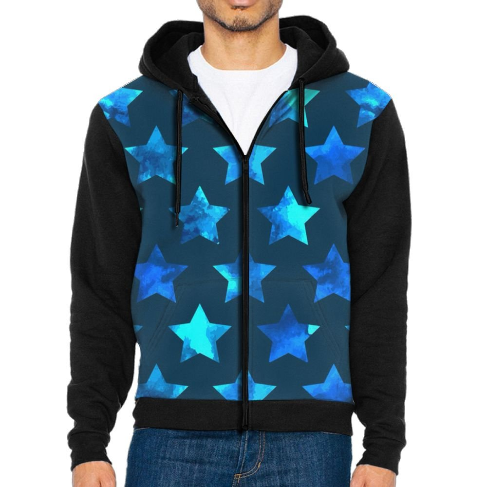 OneisFirst Mens Heavy Blue Stars Casual Baseball Tshirts Baseball Jackets by OneisFirst