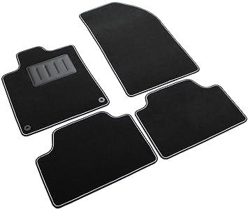 Amazon.es: Il Tappeto Auto SPRINT03515 - Alfombrillas de moqueta Antideslizante, Color Negro, Borde Bicolor, talonera Reforzada de Caucho, para Modelo 407 ...