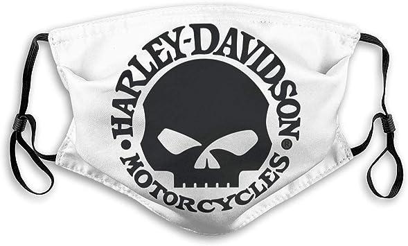 per uomo e donna per Harley Davidson anti-polvere con 2 filtri Bandanas Mascherina per viso lavabile e riutilizzabile