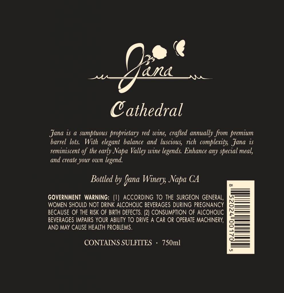 2005 jana winery napa valley cathedral cabernet sauvignon 750 ml
