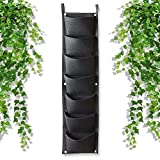 Linkax 7 Pockets Wall Hanging Planter, Vertical Garden Hanging Planter, Indoor/Outdoor Plant Grow Bag for Flower or Vegetable, Yard Home Decoration