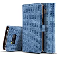 Galaxy Note 8 Case, Dfly-US Premium PU Leather Flip Wallet Case Cover with Breathe Freely Design for Samsung Galaxy Note 8, Blue
