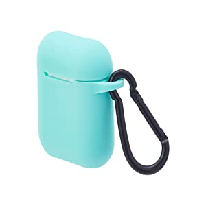 AmazonBasics Premium AirPods Case - Compatible with Apple AirPods 1 & 2, Diamond Blue
