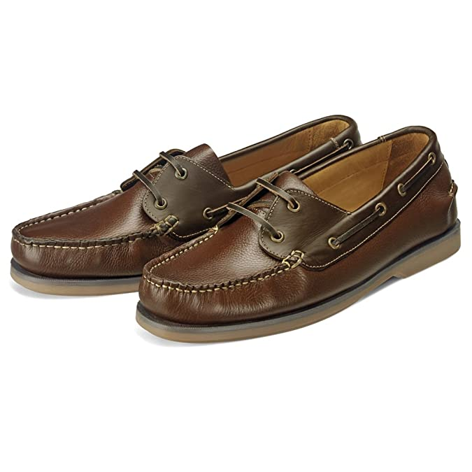 9343207c7520 Samuel Windsor Men s Handmade Leather Slip-on and Lace-up Deck Shoes with  Blake Stitch  Amazon.co.uk  Shoes   Bags
