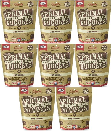 Primal Freeze-Dried Nuggets Lamb Formula for Dogs 44oz (8 x 5.5oz) by Primal