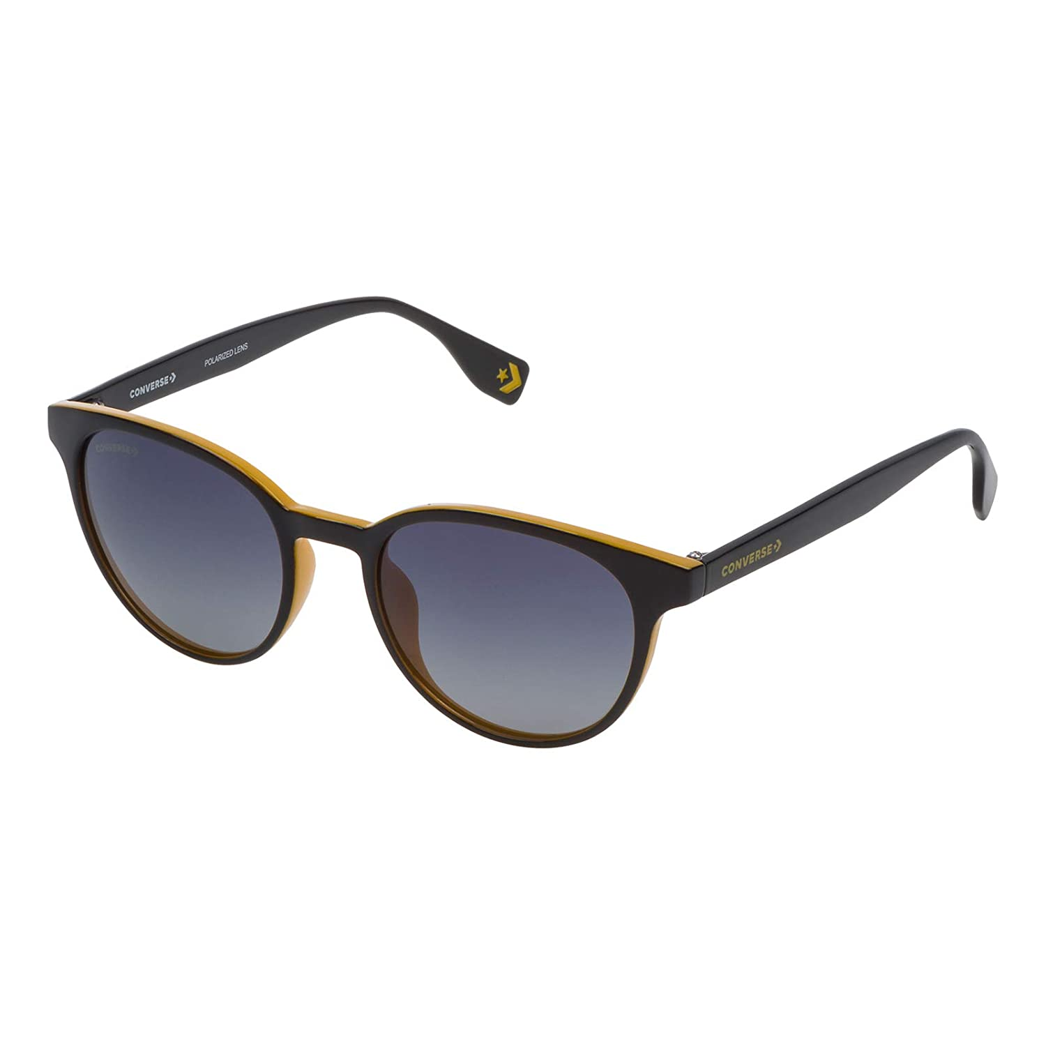 Converse SCO048524GCP Gradient Oval Sunglasses Black/Yellow ...