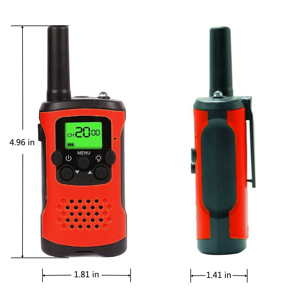 AMENON 2 Pack Walkie Talkies for Kids 22 Channel 2 Way Radio 3 Miles Long (Up to 5Miles) FRS/GMRS Handheld Mini Radio Toy for Boys Girls Outdoor Camping Hiking Birthday Christmas by AMENON (Image #6)