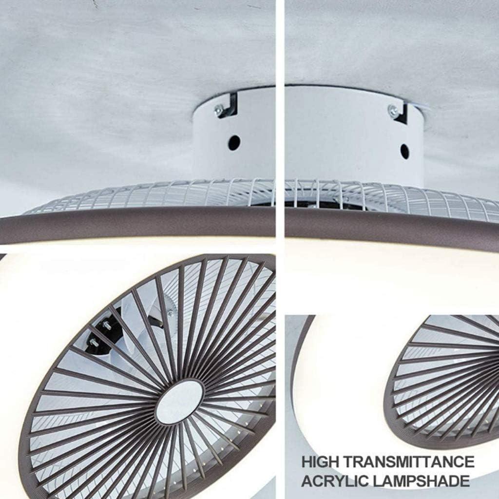LED Deckenventilator Mit Beleuchtung 32W Deckenbeleuchtung Dimmbar Mit Fernbedienung Leise Rund Deckenleuchte 3-Farbtemperatur Schlafzimmer Wohnzimmer Esszimmer Fanlampe Deckenlampe Moderne,Blau Pink