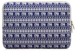 Kayond KY-23 Canvas Fabric Sleeve for 13.3-Inch Laptops - Elephant Patterns
