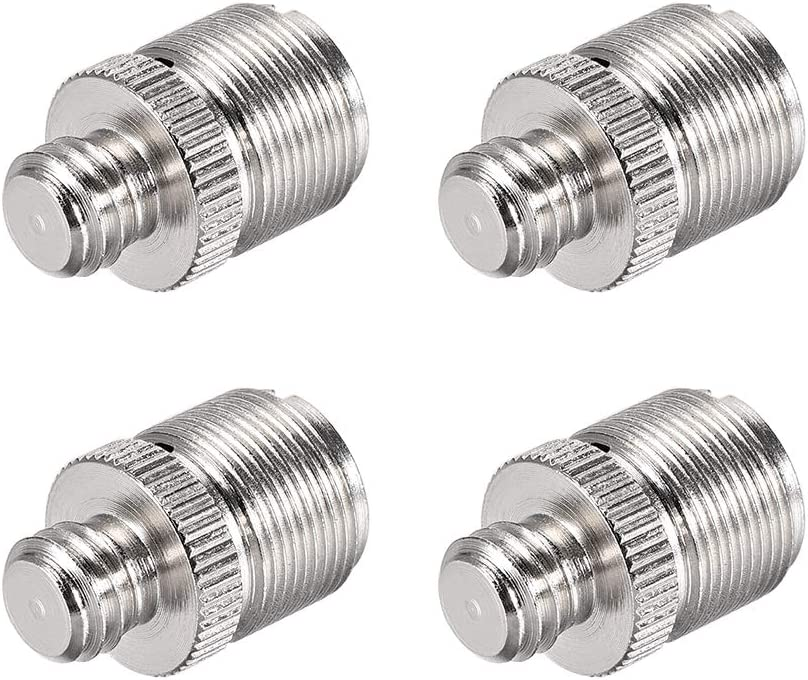 """uxcell 3//8/"""" Male to 5//8 inches Male Threaded Screw Adapter for Microphone Tripod Stand 4pcs"""