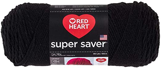 Teal Red Heart Yarn Super Saver Yarn 312 Black