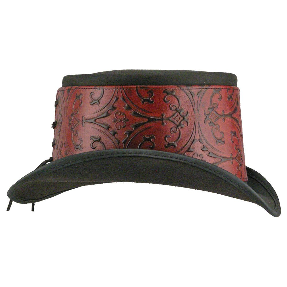 9880f9911 American Hat Makers El Dorado-Red Heraldic Hat Wrap by Steampunk ...