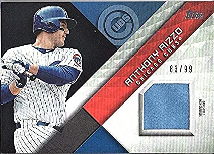 d0bc067352b 2018 Topps Major League Material Relic Series 2 Black Anthony Rizzo Jersey  83 99 Cubs