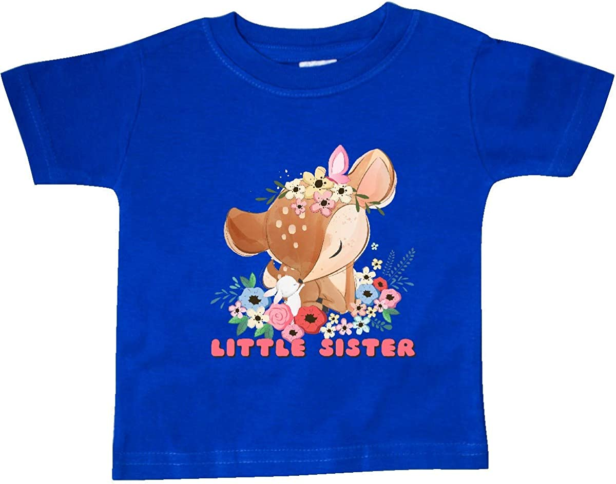 inktastic Little Sister Deer Baby T-Shirt