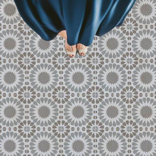 Cordelia Tile Stencil - Cement Tile Stencils - DIY Floor Tiles - Reusable Stencils for Home Makeover (Medium)