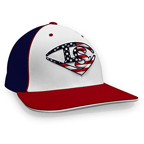 1fdbf4c65f54bf Image Unavailable. Image not available for. Color: Louisville Slugger LS Logo  USA Baseball/Softball Trucker Hat