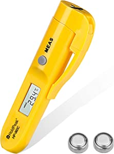 HOLDPEAK HP-960C Instant Read -22 to 527℉ (-30 to 275℃) Mini Non-Contact Digital IR Thermometer Portable Surface Temperature Measure with ℃/℉ for Oven BBQ Fried Cooking(Not Accurate for Human Temp)