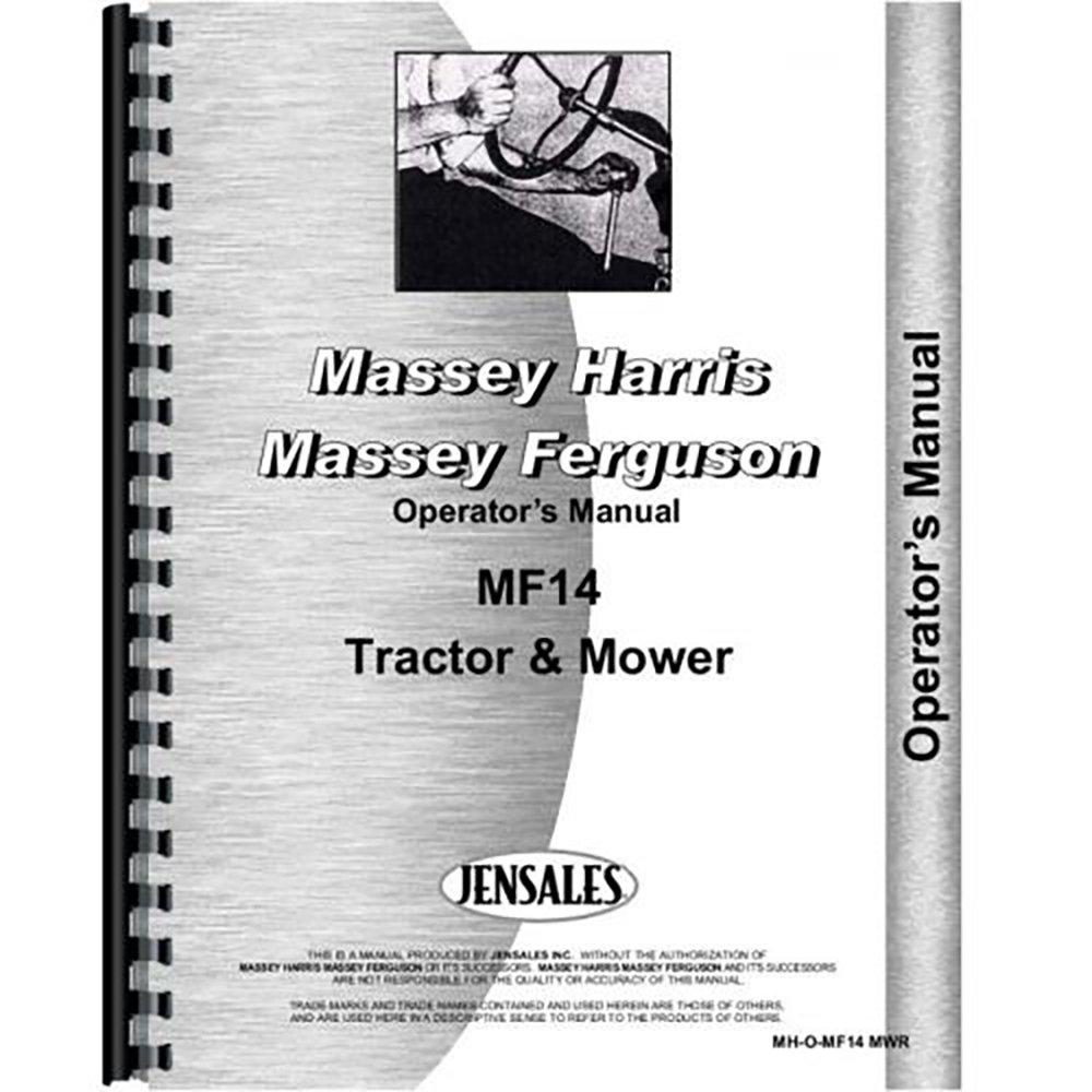 Amazon.com: New Massey Ferguson 14 Lawn & Garden Tractor Operators Manual:  Industrial & Scientific