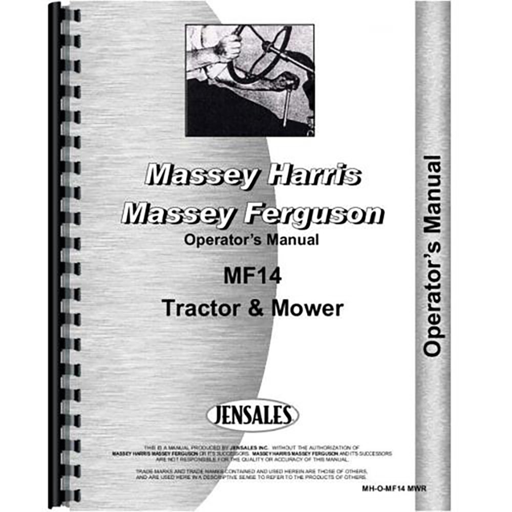 New Massey Ferguson 14 Lawn & Garden Tractor Operators Manual: Amazon.com:  Books