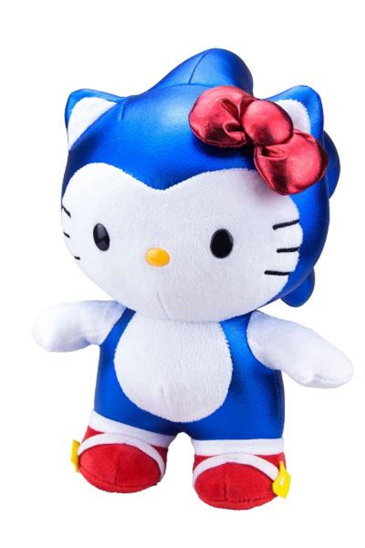 Toynami SDCC 2017 Exclusive Metallic Sonic / Hello Kitty Deluxe Plush by Toynami