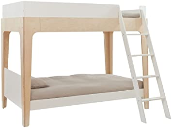Amazon Com Oeuf Perch Bunk Bed Birch White Baby