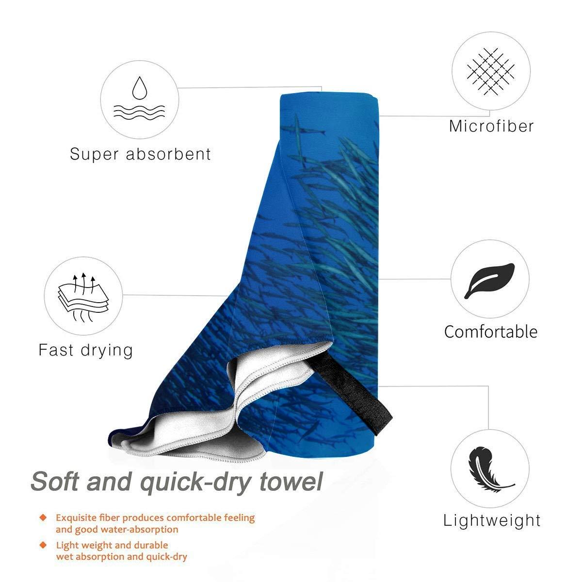 best For Gym Travel Camp Yoga Fitnes 70 X 130cm EIJODNL Coral Reef Sea Fish Microfiber Towel Blanket Sports Towels Hiking Microfiber Towel Beach Towel Quick Dry 27.5 X 51