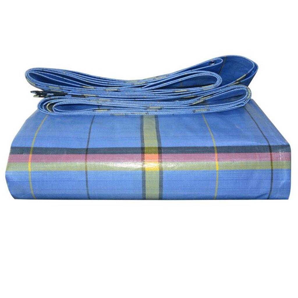 Plane Polyethylen Blau Regen Tuch Verdicken Im Freien LKW Wasserdicht Schatten Tuch Regenfestes Tuch Sonnenschutz Linoleum