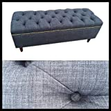 48″ Upholstered Bench Ottoman for the End of a Bed (optional storage)~ Design 59 inc
