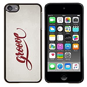 "Planetar® ( Groove Cita Slogan Sign Estilo Insignia Vida"" ) iPod Touch 6 Fundas Cover Cubre Hard Case Cover"