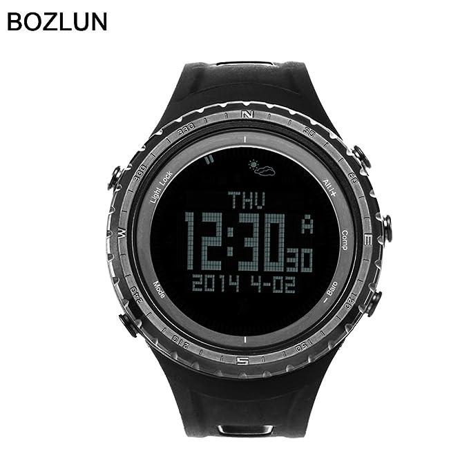 bozlun hombre multifunción inteligente Bluetooth al aire libre Digital deportes impermeable reloj de pulsera: Amazon.es: Ropa y accesorios
