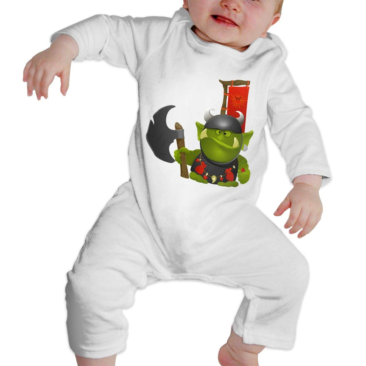 CharmKAT Baby Crew Neck Long Sleeve Solid Color Climbing Clothes Jumpsuit