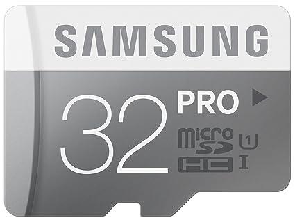 Samsung Pro MB-MG32DA/EU - Tarjeta de Memoria Micro SDHC de 32 GB (UHS -I Grade 1, Clase 10, con Adaptador SD)