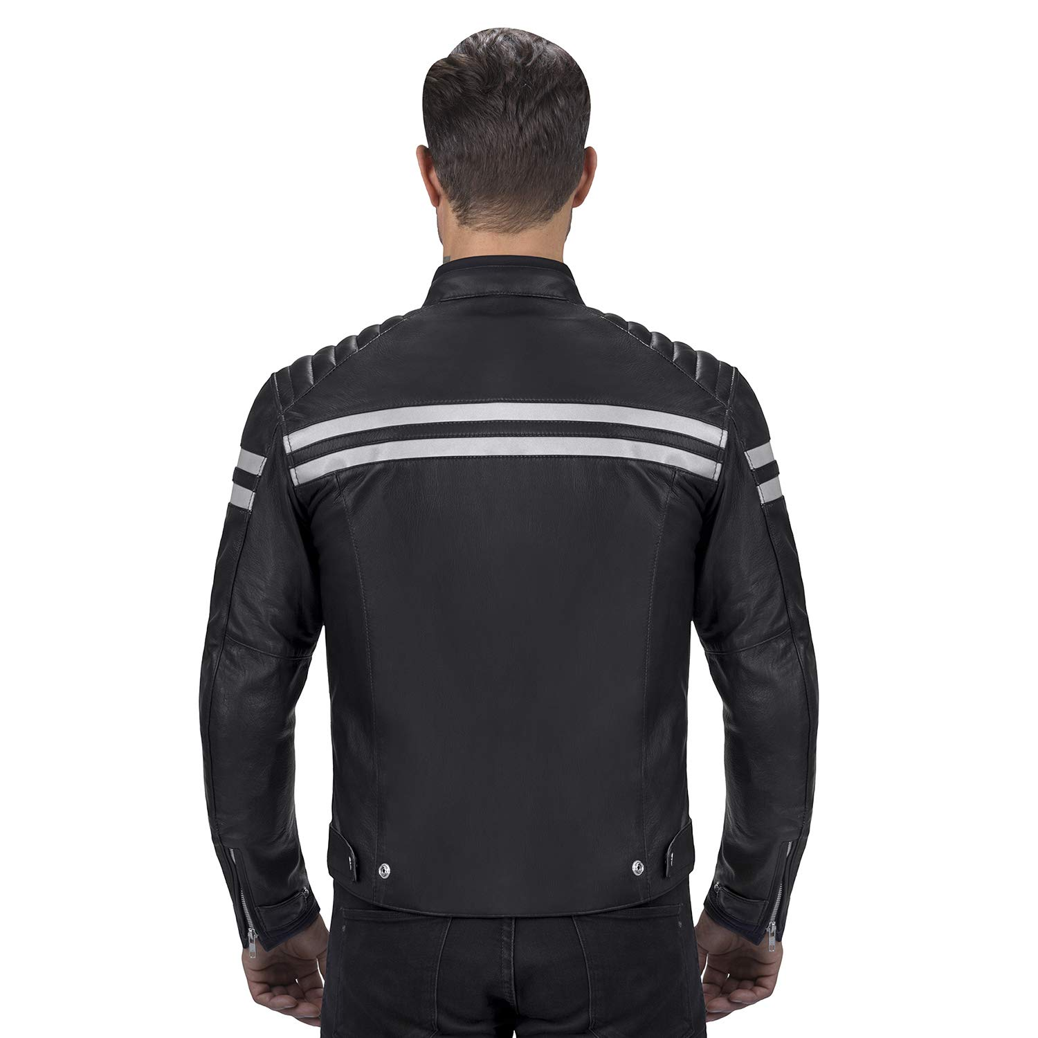Viking Cycle Leather Motorcycle Jacket for Men Biker BloodAxe Armor Protection